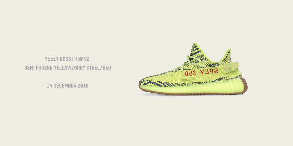 4f16760a2 YEEZY BOOST V2 350 SEMI FROZEN YELLOW - OUT DECEMBER 14TH. Thursday