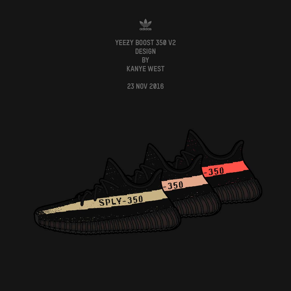 Adidas_NMD on: # 39; Oreo 'Yeezy 350 v2 Releasing Black