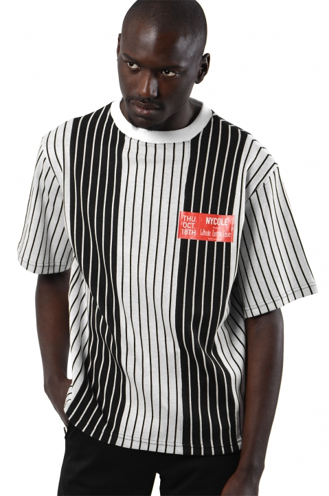 NYCOLE Patchwork Stripes T-shirt 0