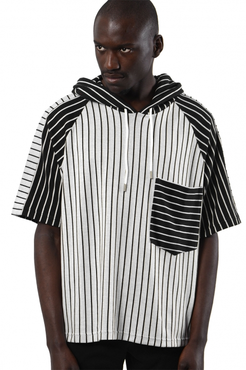 NYCOLE Hooded Multiple Stripes T-shirt 0