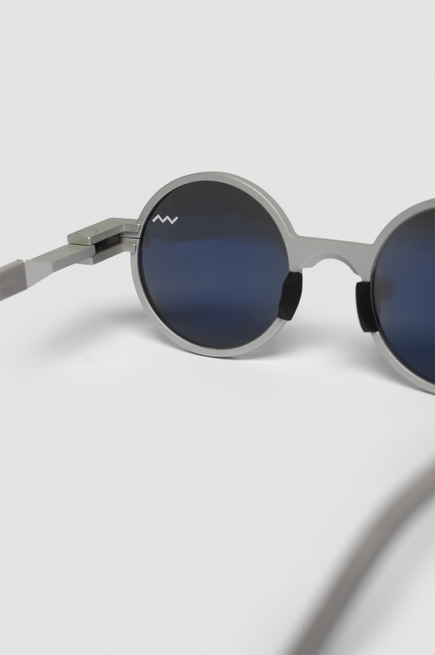 VAVA WL0016 Silver Sunglasses w/ Black Lenses 2