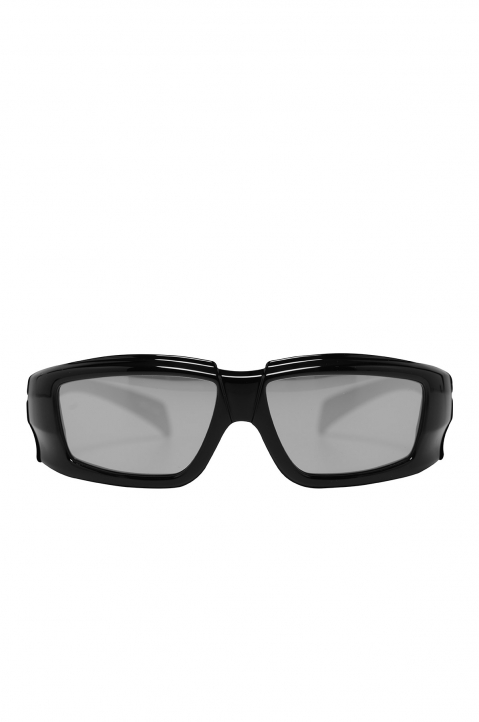 RICK OWENS The Rick Frame Black/Silver Sunglasses 0