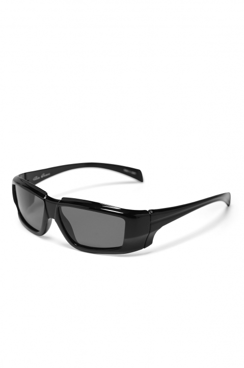 RICK OWENS The Rick Frame Black/Silver Sunglasses 1