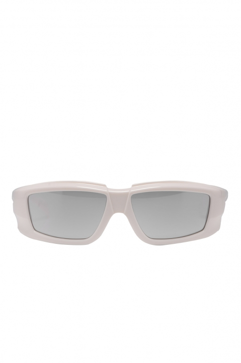 RICK OWENS The Rick Frame Cream/Silver Sunglasses 0