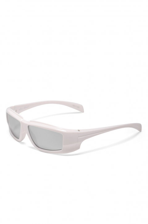 RICK OWENS The Rick Frame Cream/Silver Sunglasses 1