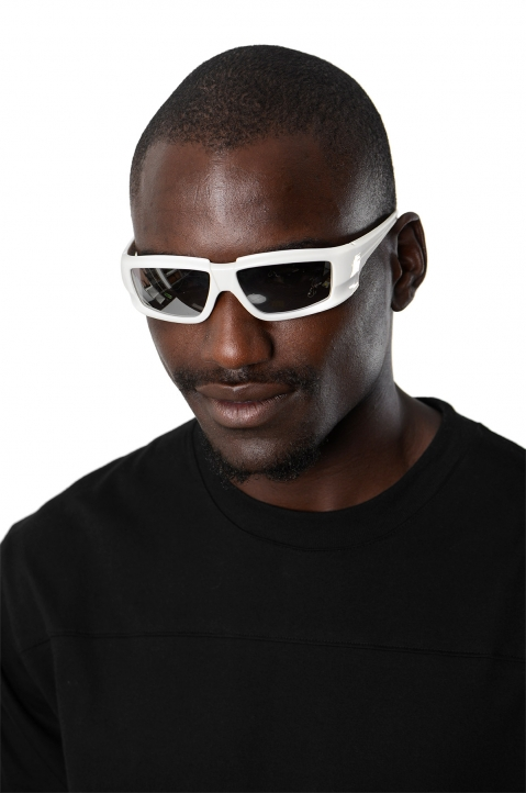 RICK OWENS The Rick Frame Cream/Silver Sunglasses 2