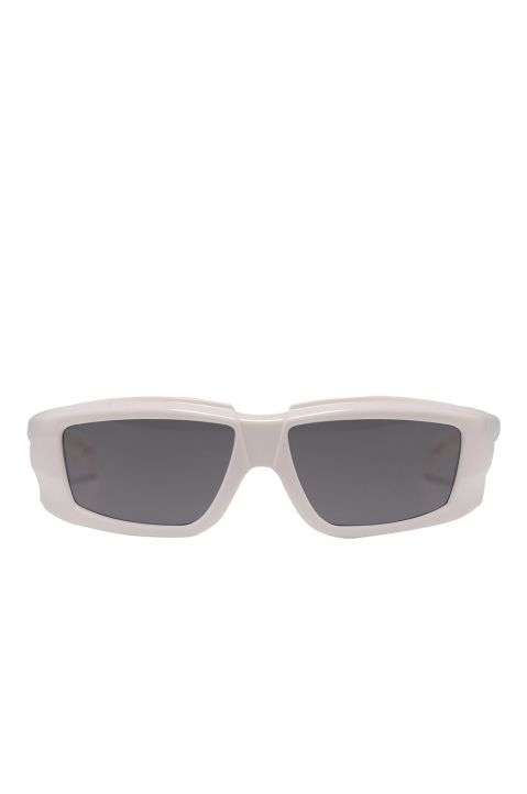 RICK OWENS The Rick Frame Cream/Black Sunglasses 0