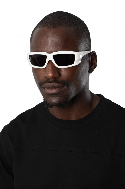 RICK OWENS The Rick Frame Cream/Black Sunglasses 2