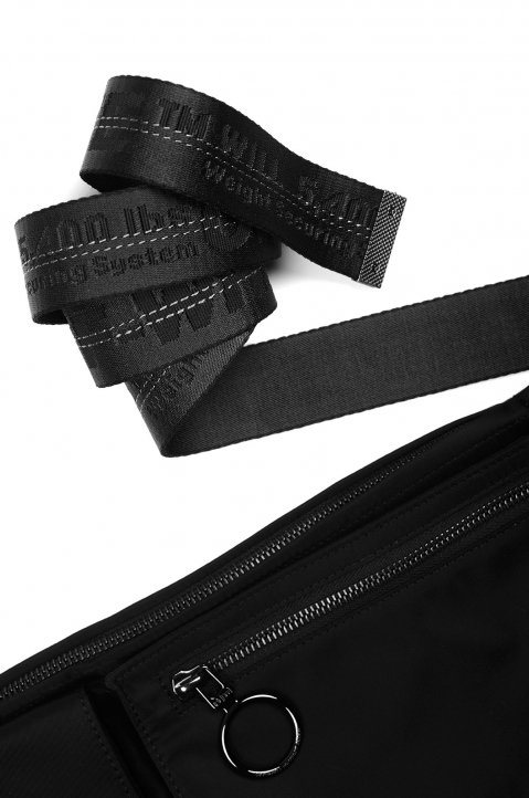 OFF-WHITE Black Industrial Flat Waistbag 3