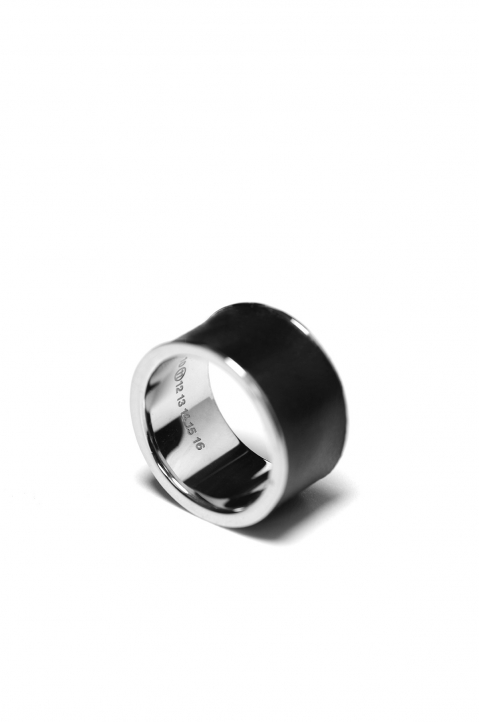 MAISON MARGIELA Silver & Leather Ring 1