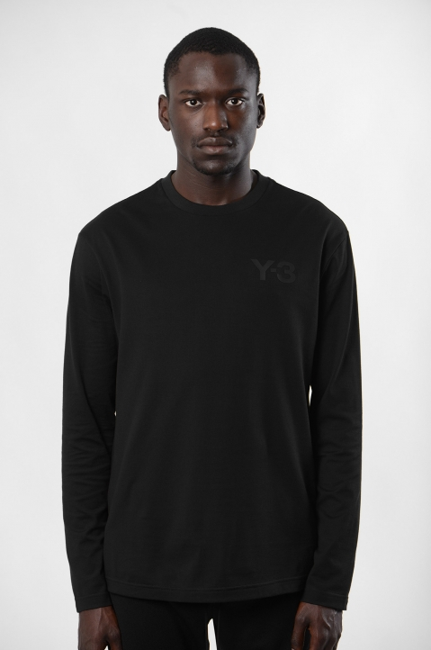 Y-3 Logo Black L/S T-shirt 1