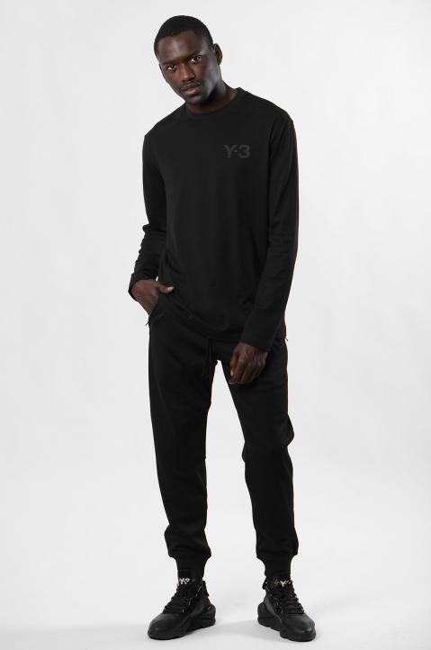 Y-3 Logo Black L/S T-shirt 3