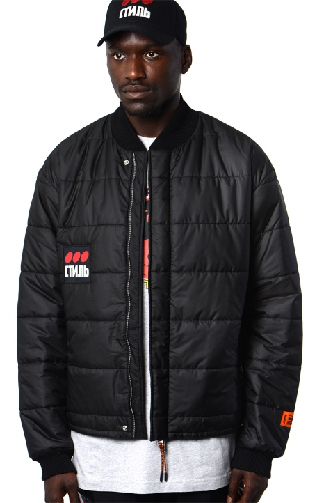 HERON PRESTON Black Thin Puffer Jacket 0