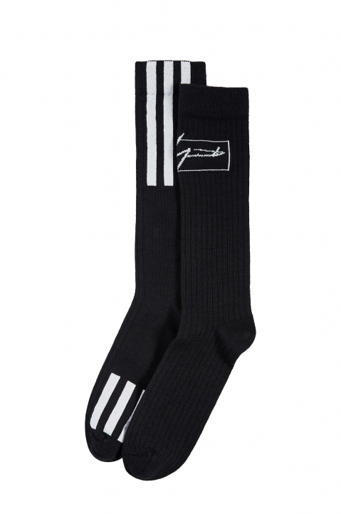 Y-3 Black Wool Socks 1