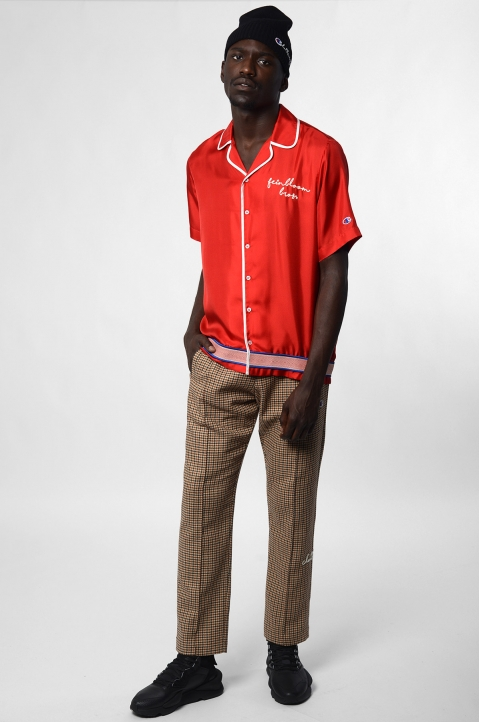 CHAMPION X CLOTHSURGEON Red Silk Bowling Shirt 3