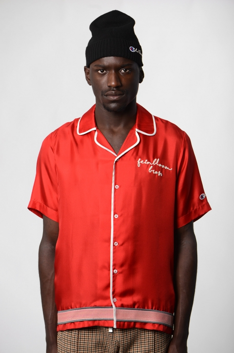 CHAMPION X CLOTHSURGEON Red Silk Bowling Shirt 1