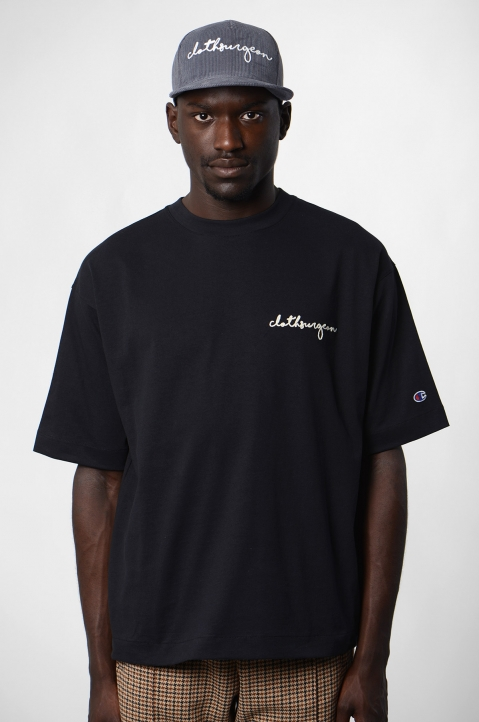 CHAMPION X CLOTHSURGEON Black T-shirt 1