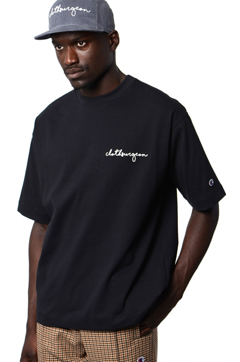 CHAMPION X CLOTHSURGEON Black T-shirt 0