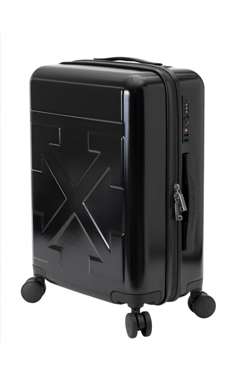 OFF-WHITE Quotes Black Trolley Luggage  1