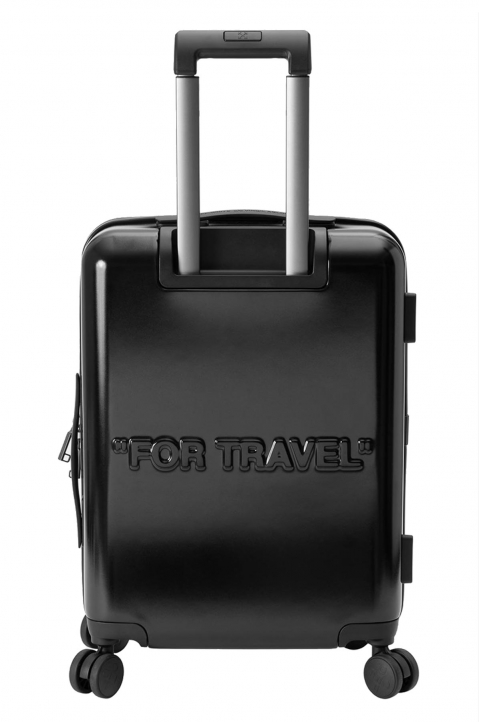 OFF-WHITE Quotes Black Trolley Luggage  2