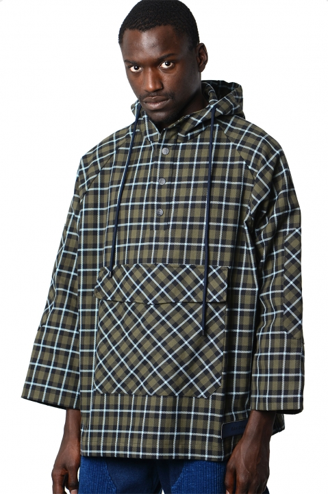 DAVID CATALÁN Tartan Windbreaker 0