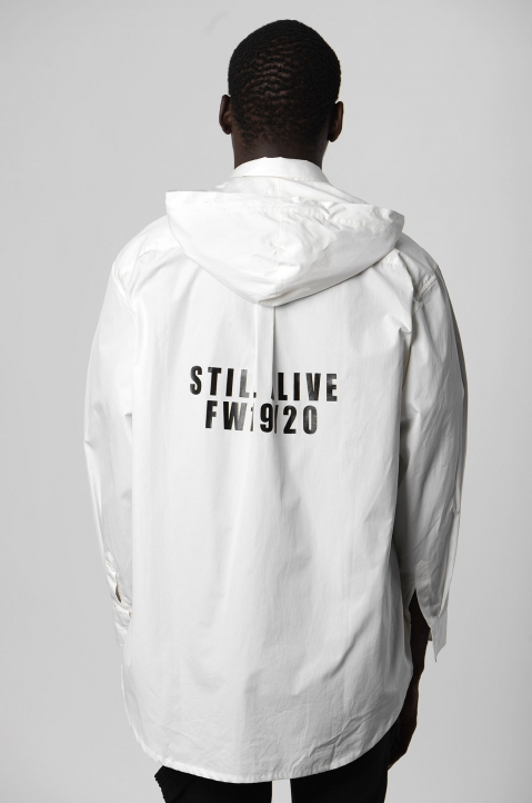 DAVID CATALÁN White Hooded Shirt 2