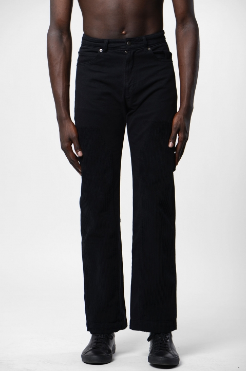 DAVID CATALÁN Wide Leg Black Jeans 1