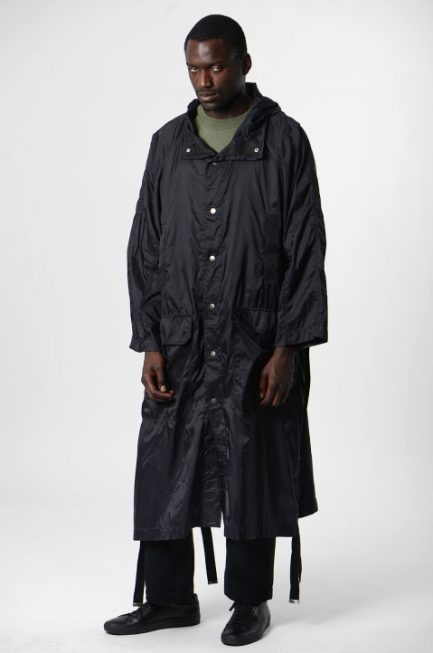 DAVID CATALÁN Black Nylon Parka 3