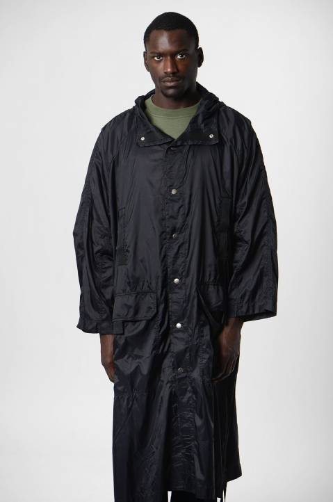 DAVID CATALÁN Black Nylon Parka 1