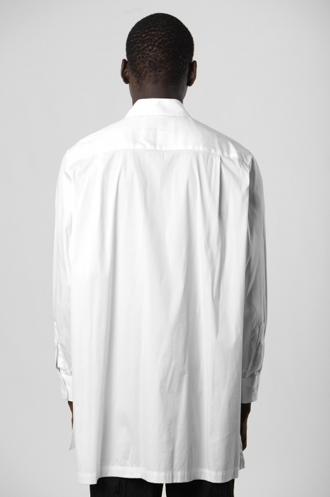 FUMITO GANRYU White Embroidery Side Line Shirt 2
