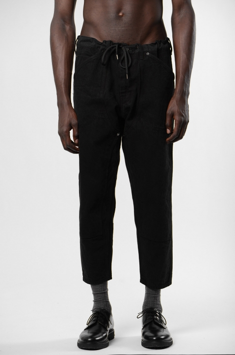 FUMITO GANRYU Kruta Black Double Knee Trousers 1
