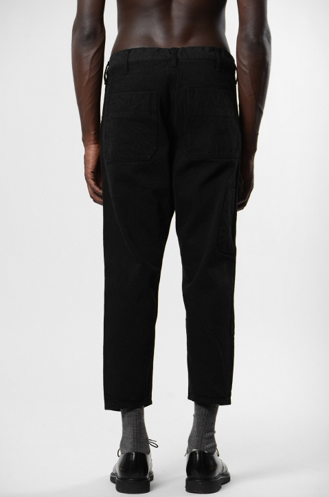 FUMITO GANRYU Kruta Black Double Knee Trousers 2