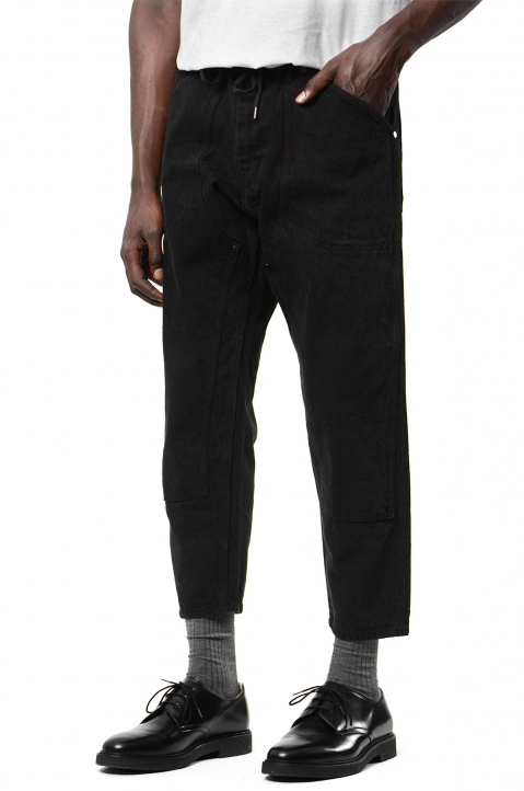 FUMITO GANRYU Kruta Black Double Knee Trousers 0