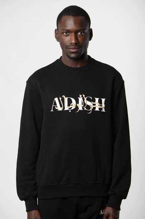 ADISH Embroidered Black Sweatshirt 2