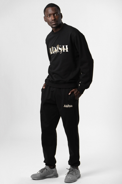 ADISH Embroidered Black Sweatshirt 3