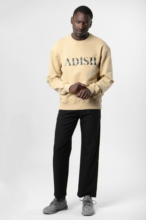 ADISH Embroidered Beige Sweatshirt 3