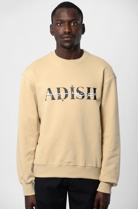 ADISH Embroidered Beige Sweatshirt 1