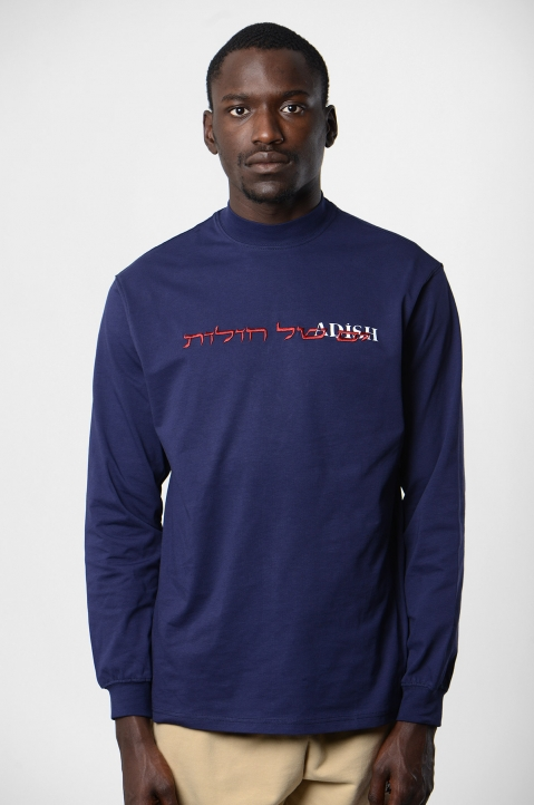 ADISH Embroidered Blue L/S T-shirt 1