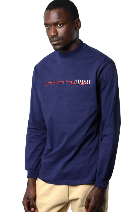 ADISH Embroidered Blue L/S T-shirt 0