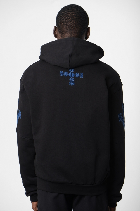 ADISH Black Embroidered Hoodie 2