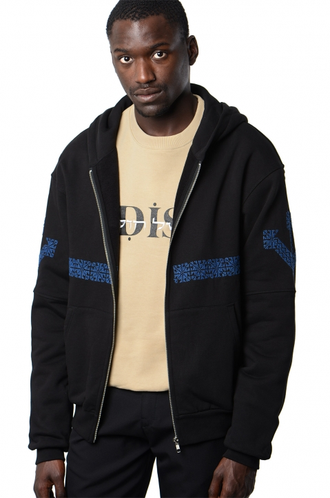 ADISH Black Embroidered Hoodie 0