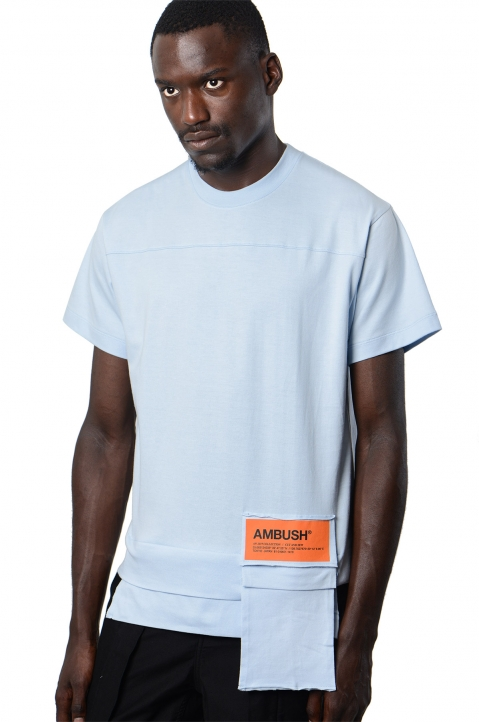 AMBUSH Blue Waist Pocket Tee 0