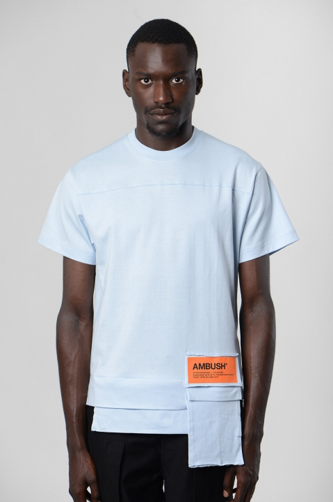 AMBUSH Blue Waist Pocket Tee 1