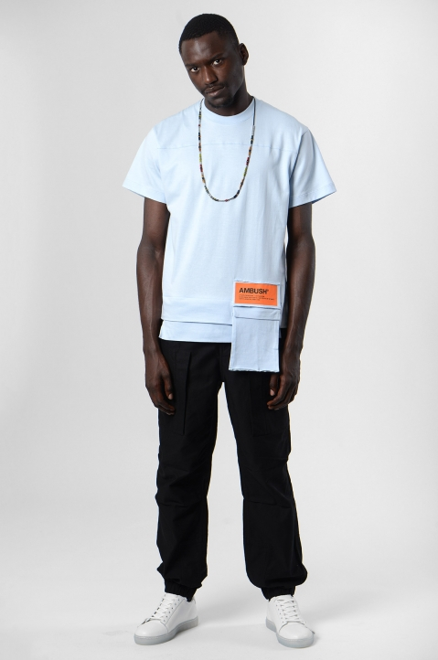 AMBUSH Blue Waist Pocket Tee 3