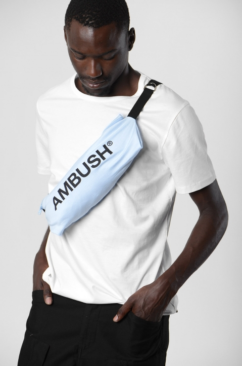 AMBUSH Blue Waist Pocket Tee 4