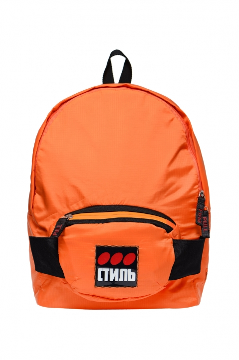HERON PRESTON Orange Fanny Backpack 0
