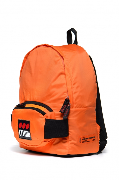 HERON PRESTON Orange Fanny Backpack 1