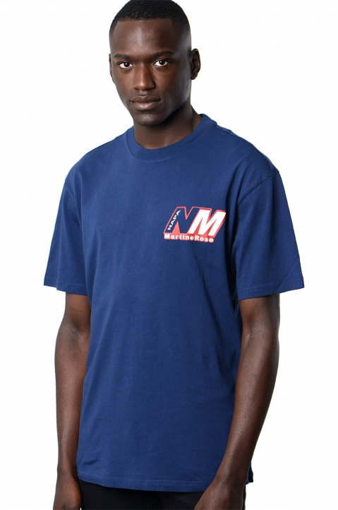 NAPA by MARTINE ROSE Insignia Blue Ocelot Logo Tee 0