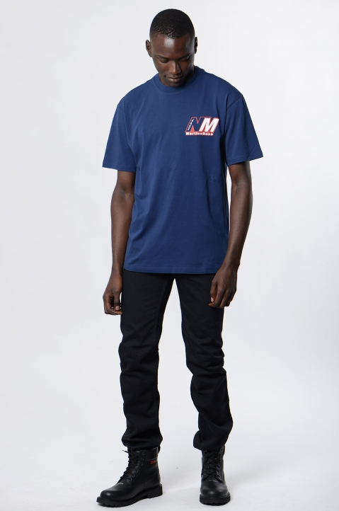 NAPA by MARTINE ROSE Insignia Blue Ocelot Logo Tee 3