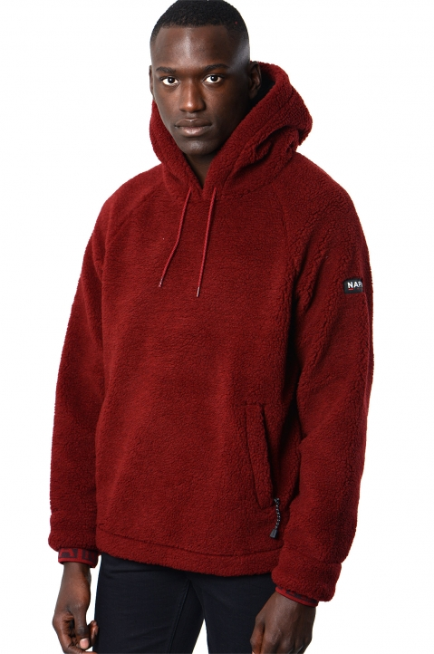 NAPA by MARTINE ROSE Burgundy Fleece Hoodie 0